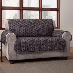 Innovative Textile Solutions Circles Microfiber Sofa Protector