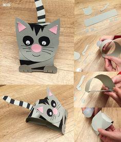 Pin von nishtha auf kid khajana crafts for kids, toilet pape Crafts For Kids To Make, Kids Crafts, Diy And Crafts, Arts And Crafts, Paper Crafts, Craft Tutorials, Craft Projects, Cain Y Abel, 3d Figures