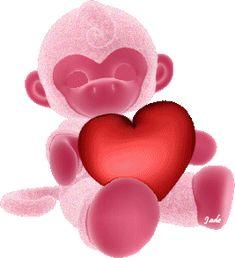 Gifs, imagens e efeitos: Coração- parte 3 Beautiful Gif, Beautiful Hearts, Girly M, Cute Monkey, Glitter Graphics, Cute Gif, Smiley, Gifs, Bar