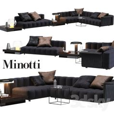 3d models: Sofa - Sofa Minotti Freeman