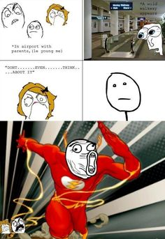 Rage Comics: Kid at airport flash Funny Relatable Memes, Funny Posts, Funny Quotes, Funny Gifs, Funny Videos, Derp Comics, Funny Comics, Funny Cartoons, Stupid Funny