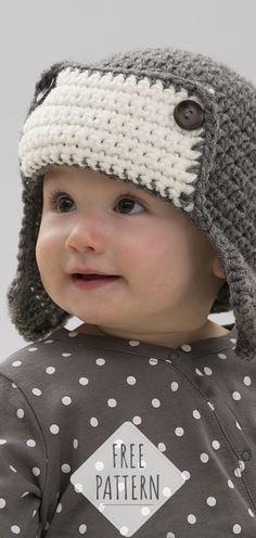 Little Lindy s Aviator  CROCHET FREE PATTERNS   HAT  crochet   freecrochetpattern  crochetlove e8ccccce11fe
