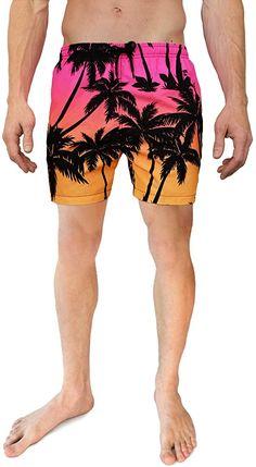 Cabana Bro Men's Swim Short - The SoCal Sunsets Hawaiian Swim Trunk, Medium | Amazon.com Men's Swimsuits, Swimwear, Mens Swim Shorts, Man Swimming, Swim Trunks, Cabana, Fasion, Mens Suits, Sunsets