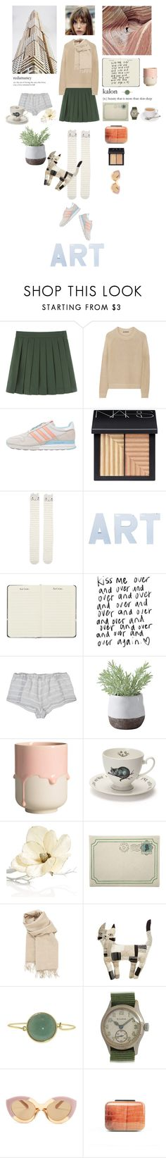 """""""Art rock"""" by teodora-teddy ❤ liked on Polyvore featuring Vince, adidas Originals, NARS Cosmetics, Accessorize, Ciao Bella, Paul Smith, Only Hearts, Torre & Tagus, Mrs Moore's Vintage Store and Holiday Lane"""