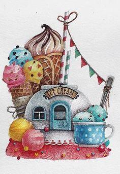 """1,374 Me gusta, 27 comentarios - Tonia Tkach (@tonia_tkach) en Instagram: """"А вот и еще одна """"сладкая"""" картинка!  Самое вкусное мороженное я пробовала на площади во…"""""""