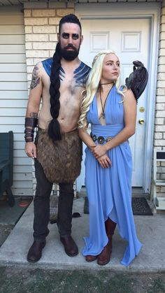 #Daenerys Targaryen, Khal Drogo and #Khaleesi, Game of Thrones, Costume, Dragon #halloween #costume #GameofThrones #GoT