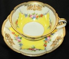 Vintage Noritake Japan Wreath Garland Tea Cup and Saucer Teacup | eBay by tracie