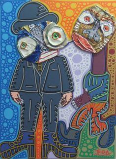 Toulouse Lautrec's cousin, canvas 30 x 40, 2008