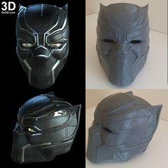 Do3D.com's Black Panther Helmet 3D printed!