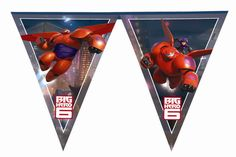 Disney Big Hero 6 Flag Banner Party Decoration from Tiger Feet Party