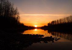 Fraser River Sunset - Chilliwack, British Columbia