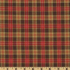 Yarn Dyed Plaid Shirting Brown Compare At $7.99 per YD $5.98 per yd