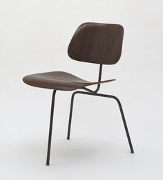 Charles & Ray Eames. Three-Legged Side Chair  |  A BAD IDEA!*  |   (*see also: F. Ll. Wright: Johnson Wax Co. 3 leg office chair - BAD IDEA.) (also: 3 leg stools don't work.)