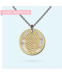 Engrave a personalised and meaningful message on this unique pendant made from precious metals. The message is yours, partially obscured by a beautifully designed pendant, making it an ideal conversation piece - It's your secret message, Wheel Of Life, Pendant Design, Gift Vouchers, Hamsa, Precious Metals, Dog Tag Necklace, Initials, Identity, Pendants