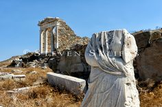 Temple of Isis. Delos Greece, Apollo And Artemis, Ancient Ruins, Mount Rushmore, Temple, The Incredibles, Island, Mountains, Amazing