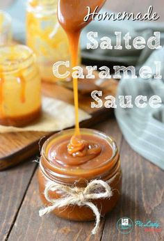 A delicious and easy Salted Caramel Sauce Recipe that makes up a thick sauce in minutes using heavy cream. A hint of almond liqueur, like Amaretto, completely changes the flavor! Easy To Make Desserts, Easy Desserts, Delicious Desserts, Dessert Recipes, Homemade Caramel Sauce, Salted Caramel Sauce, Thick Caramel Sauce Recipe, Salted Caramels, Cremeux Caramel