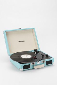 Crosley Cruiser Briefcase Portable Turntable  #UrbanOutfitters - I love my vinyl collection, and the sound, but I don't have the room for it. This is adorable though. Too bad the records take up way more space!