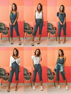 38 cute casual outfits to have in your closet 23 Style Casual, Cute Casual Outfits, Casual Looks, My Style, Diy Fashion, Ideias Fashion, Fashion Outfits, Diy Vetement, Clothing Hacks