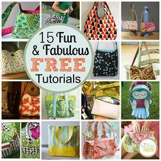 15 Fun and Fabulously Free Bag Tutorials.
