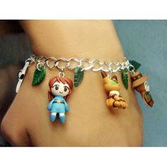 Nausicaa,bracelets,pulsera,fimo,polymer clay,handmade,hecho a mano,anime,manga,ghibli,teto,yupa,ohm,gorgona,