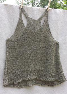 inside out tank - cara may knits