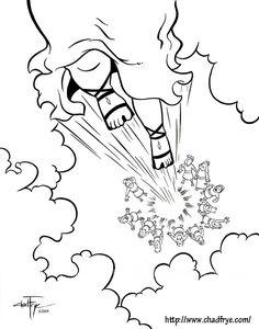 Chad Frye , un importante dibujante de comics ha creado estas ilustraciones que espero os sirvan para hacer un cómic  con los niños en Seman...