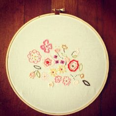 Embroidery using my bouquet pattern by lovely chaos typepad~ Aneela Hoey