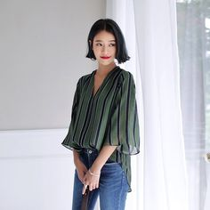 The most perfect striped blouse