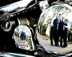 Country Wedding, Bridal party, groomsman, Harley Davidson