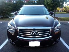 Infiniti QX60 – 7 people vehicle -RearView camera -Heated front seats -Heated Steering Wheels -Multi-mode 2nd-row seat for easy 3rd-row entry/exit, including ability to access the third-row even with child seat installed -Moon roof -Power rear liftgate (can open and close rear/trunk door with the remote)