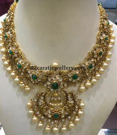 Antique Necklace latest jewelry designs - Page 4 of 332 - Indian Jewellery Designs Indian Jewellery Design, Indian Jewelry, Jewelry Design, Handmade Jewellery, Latest Jewellery, Antique Jewellery, Designer Jewelry, Bridal Jewelry, Gold Jewelry
