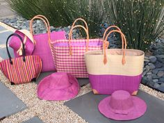Straw bags and hats from Madagasae. By Shebobo