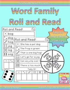 Roll and Read Word Families: Short o and u Families - practice reading word family words (cvc words, nonsense words, words with blends, and simple sentences). 4 levels for each word family. Use the expression spinner for practice fluency and expression. Practice with tally marks as well!