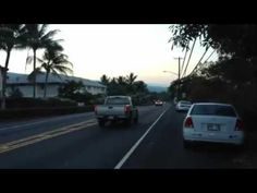Lined up with resorts, this is the walk down beautiful Alii Drive in Kailua Kona, Hawaii