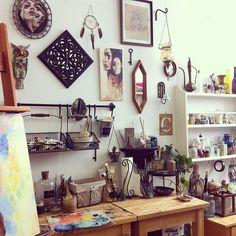 Moon to Moon: The studio of ... Charmaine Olivia  Love the subtle use of Ikea organizers
