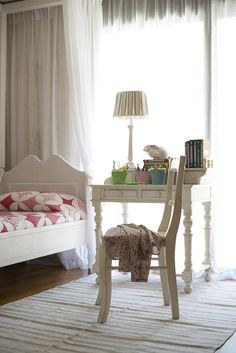 Children bedroom in white and pink. #luhadesign, #childrenbedroom, #interiors, #bedrooms, #white, #pink, #interiors, #interiorideas