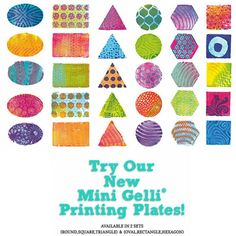Try our FUN new mini printing plates!  Available now :)