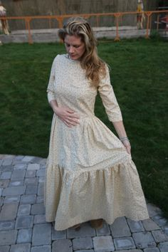New Homestead Pioneer floor length cotton dress von Wirestone