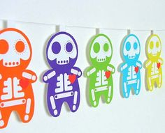 Day of the Dead Garland Mexican Party Banner PDF. $10.00, via Etsy.