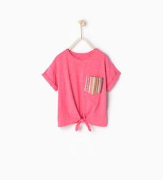 Pocket and knot T-shirt