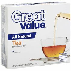 I'm learning all about Great Value : All Natural Tea at @Influenster!