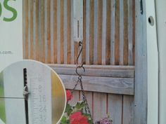 Fish scale to see when your hanging baskets need water