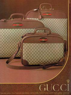Vintage Gucci 1981 Vintage Purses, Vintage Bags, Vintage Gucci, Vintage Handbags, Gucci Advertisement, Guccio Gucci, Gucci Bags, Vintage Instagram, Luggage Sets