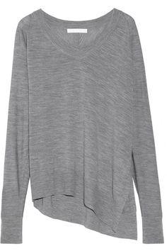 Alexander Wang | Asymmetric fine-knit wool sweater | NET-A-PORTER.COM