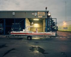 Doba with Olo, the kayak he used to cross the North Atlantic in 2017. Joakim Eskildsen for The New York Times