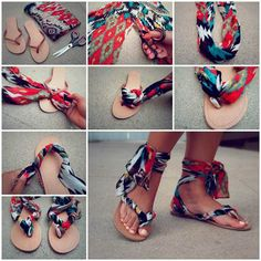 DIY Sandal Ideas cute summer creative diy sandals easy crafts diy ideas diy crafts do it yourself easy diy diy tips diy images do it yourself images diy photos diy clothes craft clothes diy shoes craft shoes DIY Flip Flops Diy, Flip Flop Craft, Beach Flip Flops, Flip Flop Shoes, Fabric Flip Flops, Diy Fashion, Fashion Models, Fashion Beauty, Fashion Tips