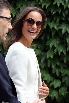 In good spirits: Pippa, who gave her first ever TV interview yesterday, smiled broadly and...