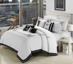 Another great find on White Athens Comforter Set by Chic Home Design Embroidered Bedding, Cotton Bedding, Bed Sets, Queen Comforter Sets, Bedding Sets, Guest Room Decor, Bedroom Decor, Bedroom Sets, Master Bedroom