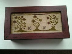 Finished this box with my Love for Labors All design.  Threadwork Primitives.