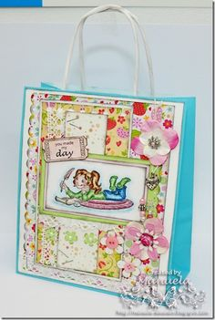 Gift bag made by me ;)  #card #papercraft #cardmaking #paper #handmade #bag